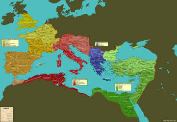 Roman Empire 395 CE by OllieBye