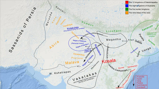 Strategic Situation in North India, 319 CE [DRAFT]