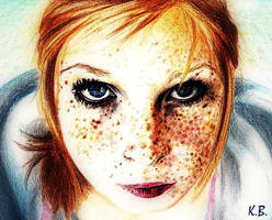 girl with freckles by SitaraGirl