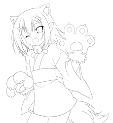 Kinoshita Hideyoshi lineart
