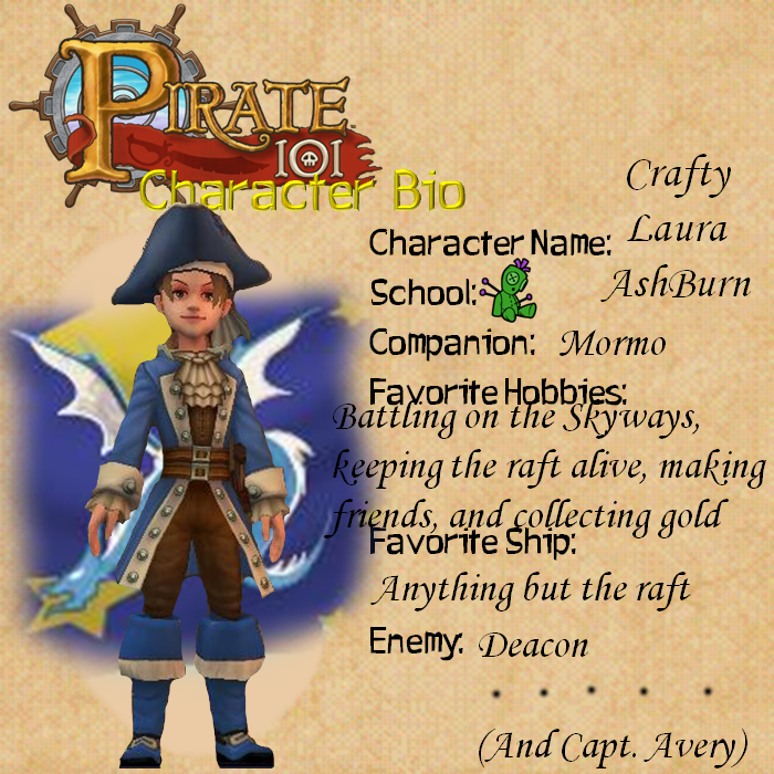 Pirate101 ID - Crafty Laura AshBurn by TheYUO on DeviantArt