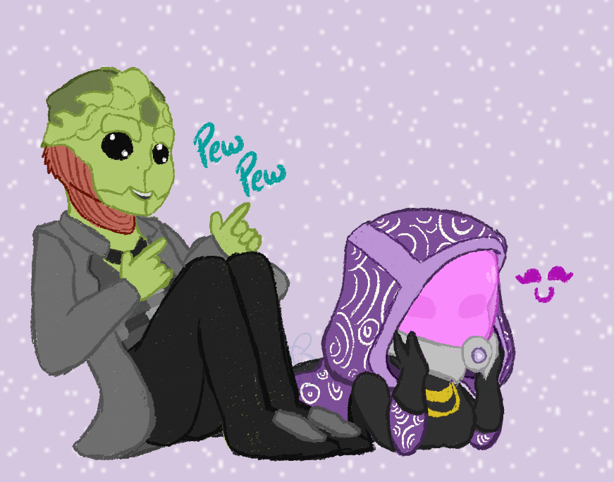 Tali and Thane by TheYUO
