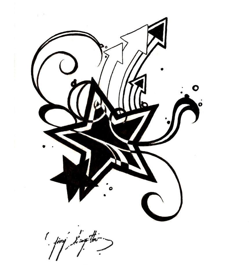 Star Tattoo by SweetnThimble