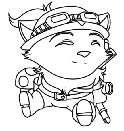 league of legends rumble coloring pages | Teemo Lineart by SweetnThimble on DeviantArt