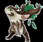 Fakemon: Petrollow, the Jackalope Pokemon