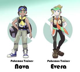 Fakemon Region: Pokemon Trainers Nova and Evera