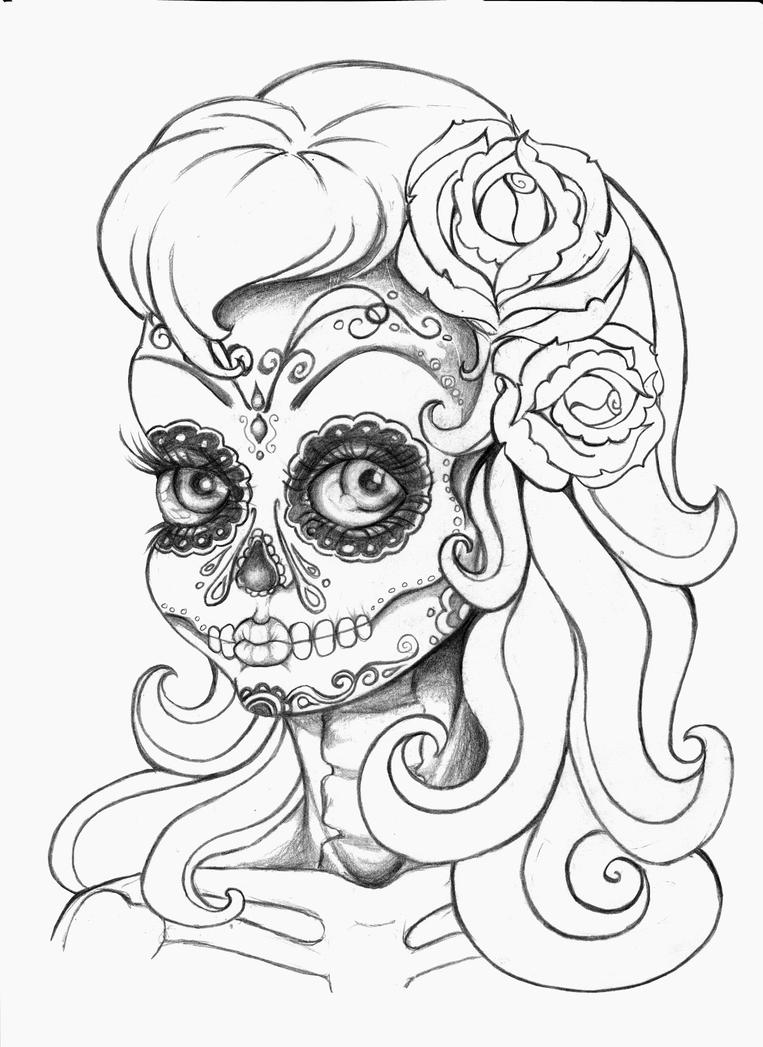 Day Of The Dead Gypsy Tattoo Designs