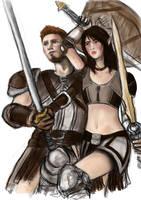 Grey Wardens WIP by Silieth