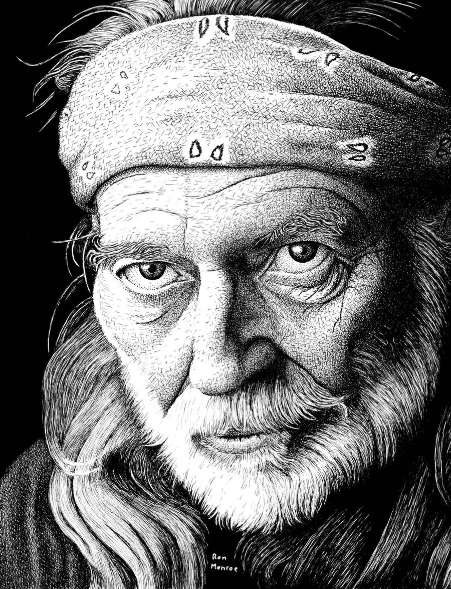 Willie Nelson Revisited by ronmonroe