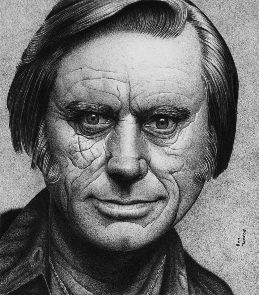 George Jones - Ballpoint Pen by ronmonroe