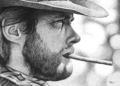 Clint in Art Pen