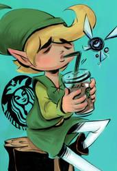 The Legend Of Zelda: Starbucks Princess by vincentsdeviantart