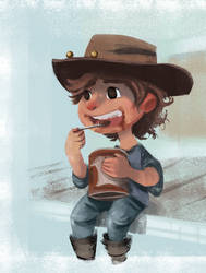 Carl Chillin' With Some Pudding