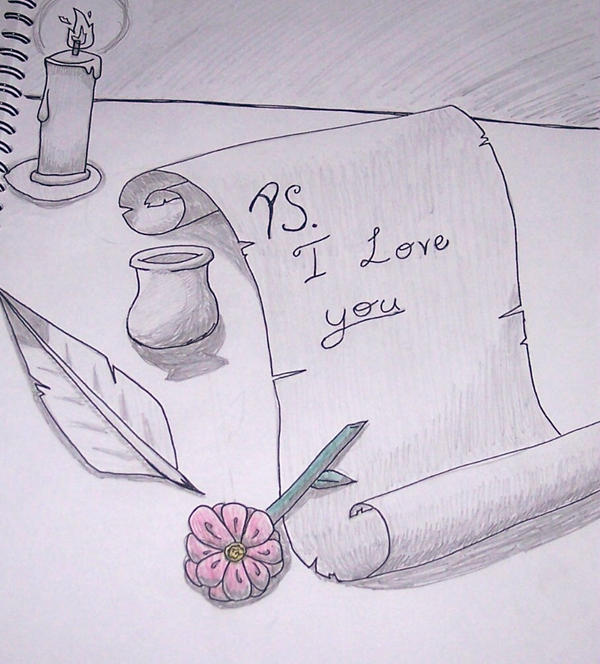 i love you drawings for her in pencil -#main