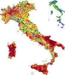 #PI: Municipality/Chief town population ratio