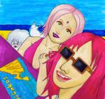 SakuKarin Summer (and Suigetsu :P) by TakkaRULZFanArt