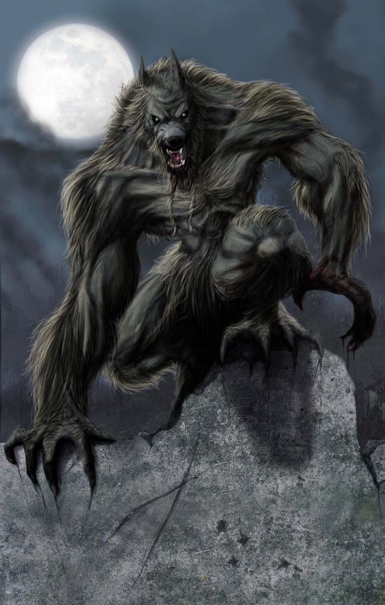 Werewolf by lykamo on deviantart for Cool fantasy drawings