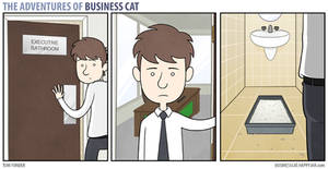 The Adventures of Business Cat: Executive Bathroom