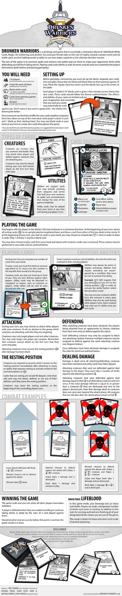 Drunken Warriors - A Drinking Card Game
