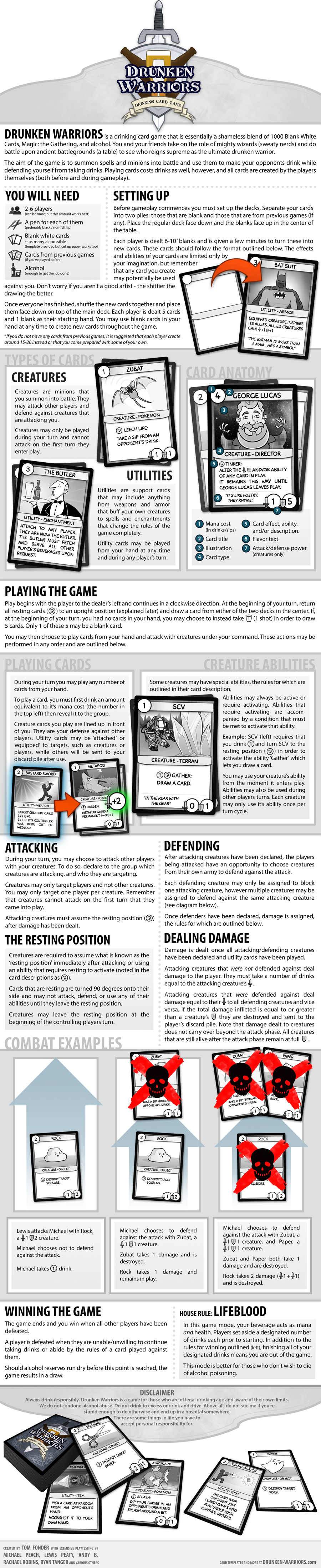 Drunken Warriors - A Drinking Card Game by tomfonder