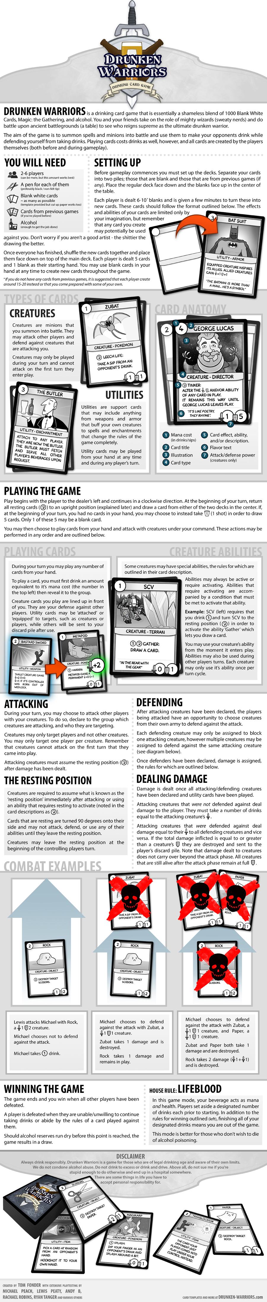 Drunken Warriors - A Drinking Card Game by tomfonder