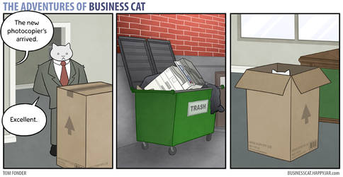 The Adventures of Business Cat - Photocopier by tomfonder
