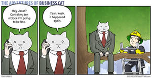 The Adventures of Business Cat - Running Late