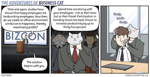 The Adventures of Business Cat - Bonding