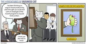 The Adventures of Business Cat - Employee OT Month