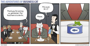 The Adventures of Business Cat - Lunch