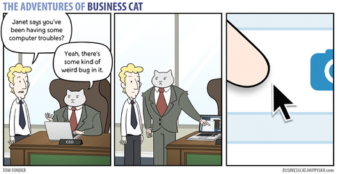 The Adventures of Business Cat - Bug