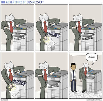 The Adventures of Business Cat - Printer by tomfonder
