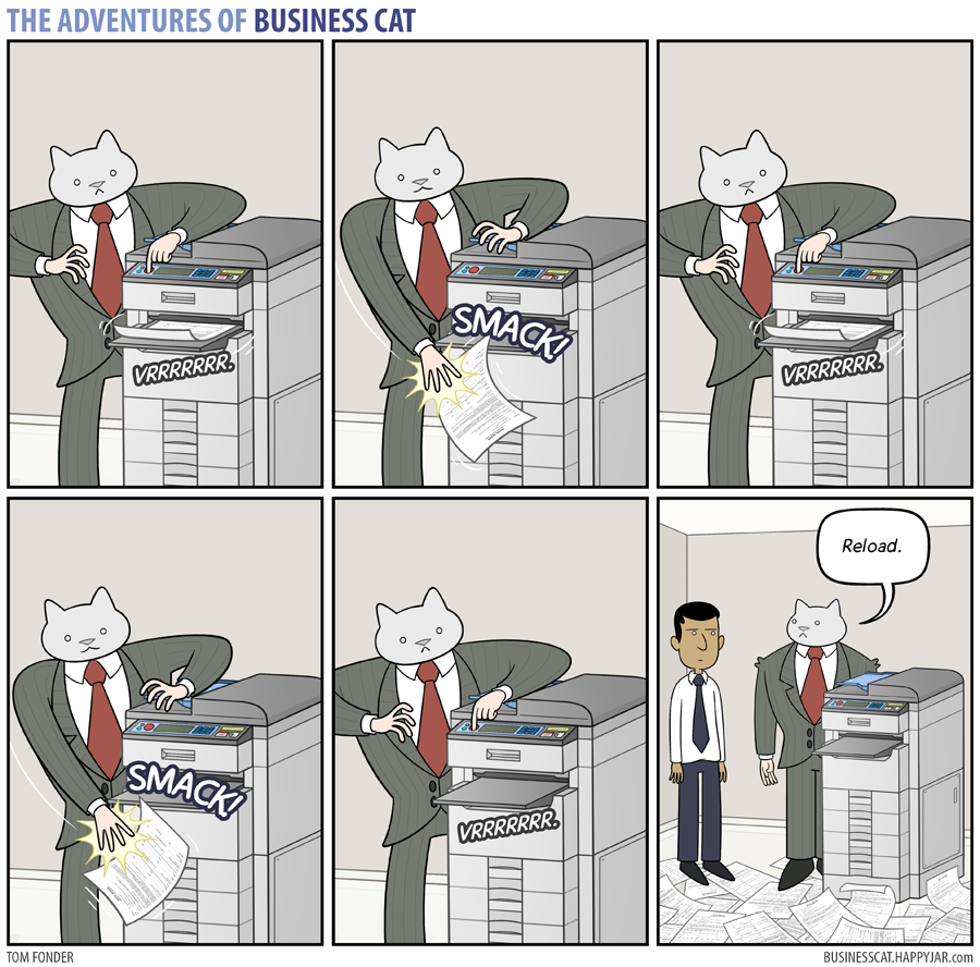 The Adventures of Business Cat - Printer
