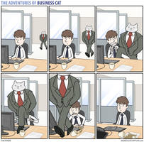 The Adventures of Business Cat - Bee Line by tomfonder