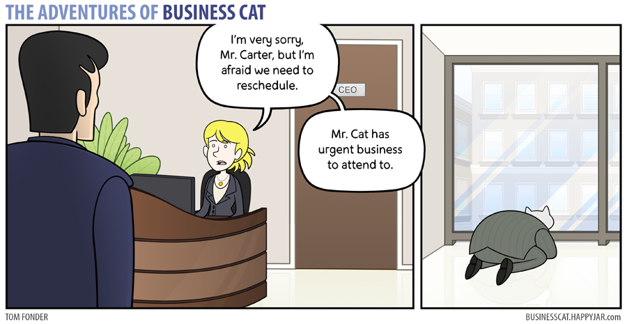 The Adventures of Business Cat - Urgent Business by tomfonder