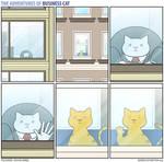 The Adventures of Business Cat - Window
