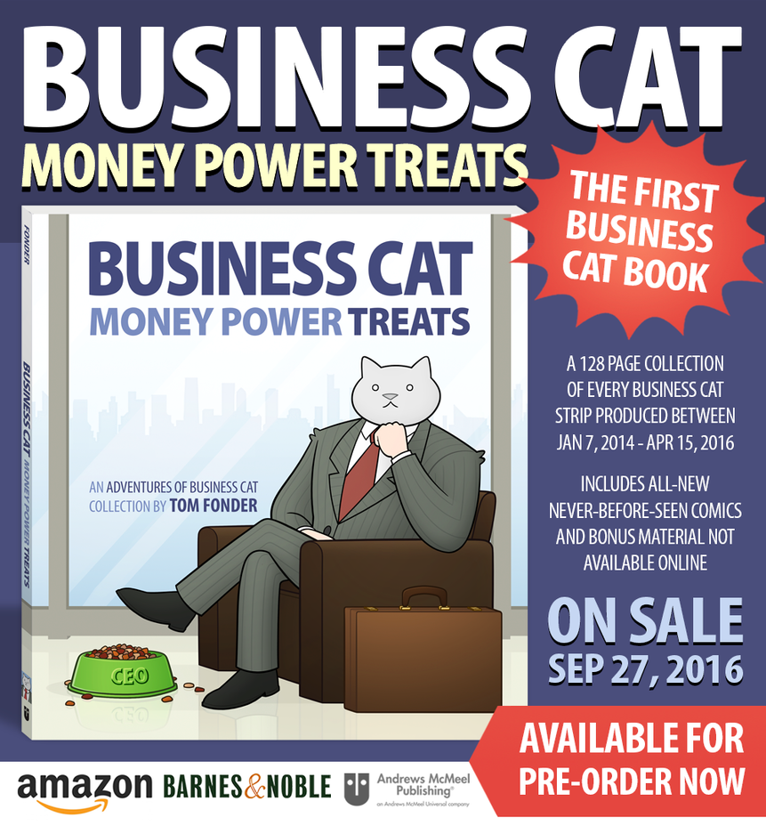 Business Cat: Money Power Treats by tomfonder