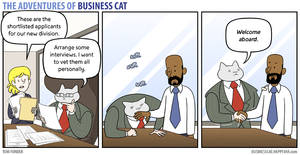 The Adventures of Business Cat - Inspection