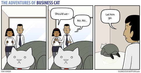 The Adventures of Business Cat - Contemplation