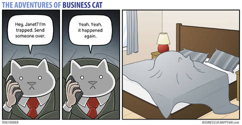The Adventures of Business Cat - Trapped
