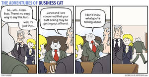 The Adventures of Business Cat - Over-Grooming