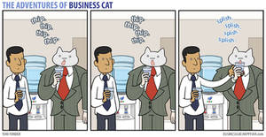 The Adventures of Business Cat - Water