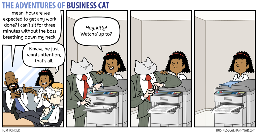 The Adventures of Business Cat - Attention