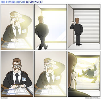 The Adventures of Business Cat - Blinds by tomfonder