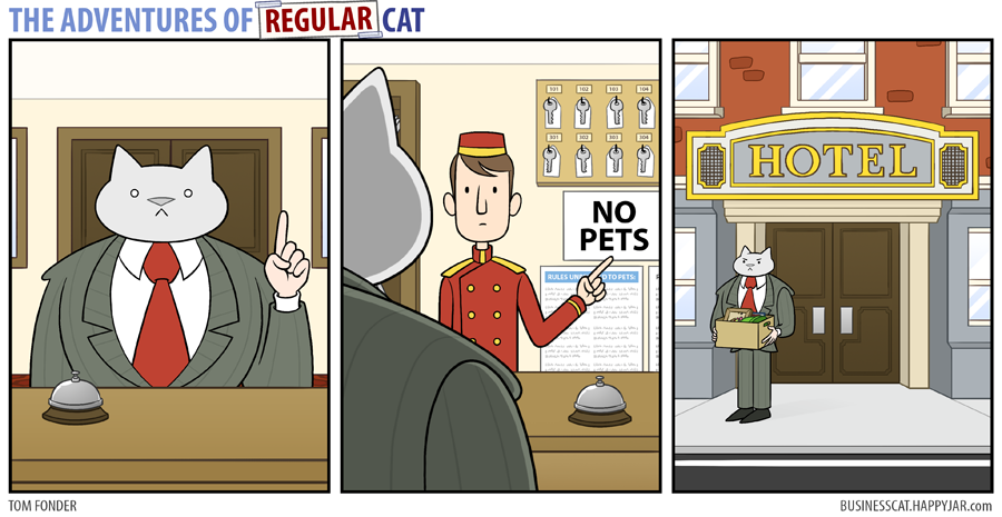 The Adventures of Regular Cat - Hotel by tomfonder