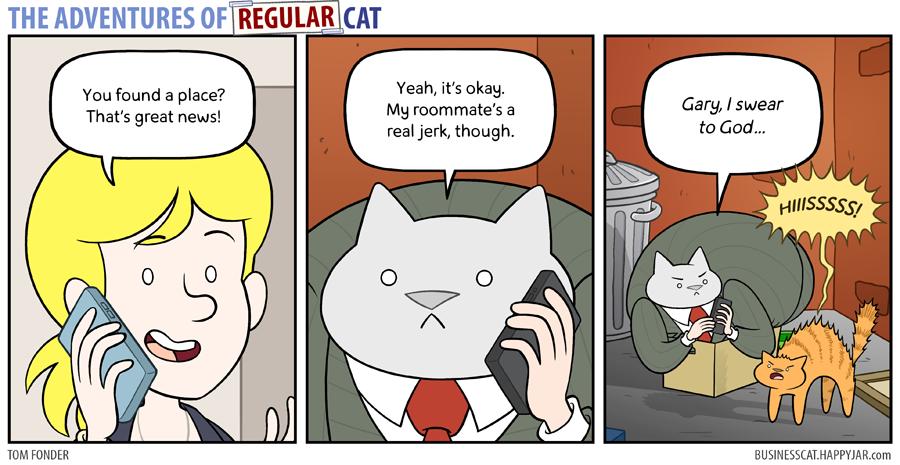 The Adventures of Regular Cat - Roommate by tomfonder