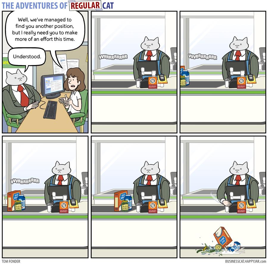 The Adventures of Regular Cat - Effort by tomfonder
