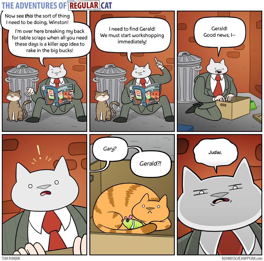 The Adventures of Regular Cat - Idea by tomfonder