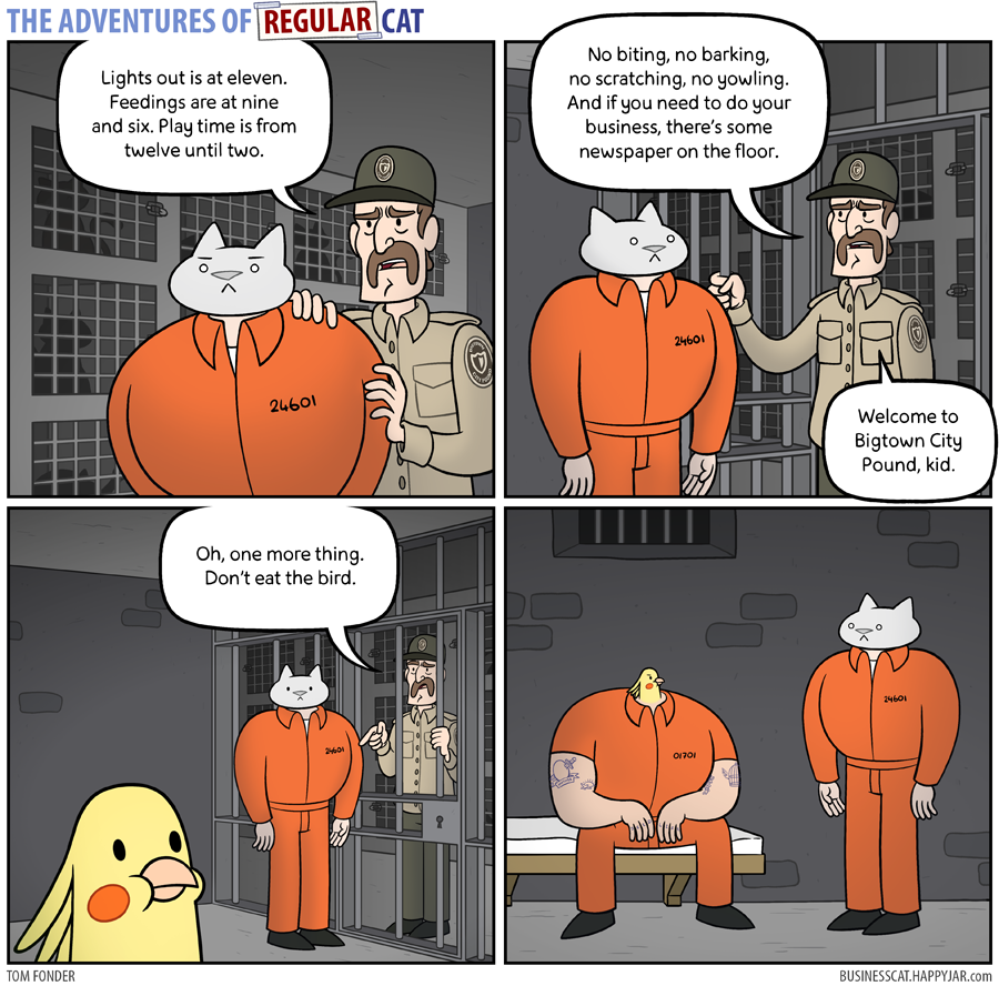 The Adventures of Regular Cat - Jailbird by tomfonder