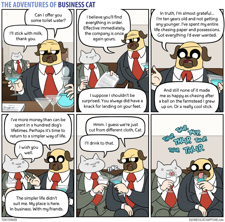 The Adventures of Business Cat - Peace Times by tomfonder